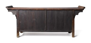 View 4. Thumbnail of Lot 1006. A 'HUANGHUALI'-VENEERED AND MIXED-WOOD THREE DRAWER COFFER, 20TH CENTURY.
