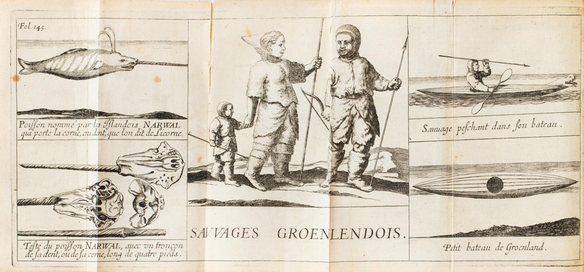 View full screen - View 1 of Lot 164. LA PEYRÈRE. Relation du Groenland. Paris, Augustin Courbé, 1647. Reliure du XIXe. Edition originale. .