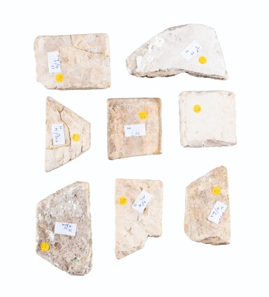 View 3. Thumbnail of Lot 129. Ten Pottery Tile Fragments, Mamluk, Ottoman, Timurid and European, 15th-18th centuries.