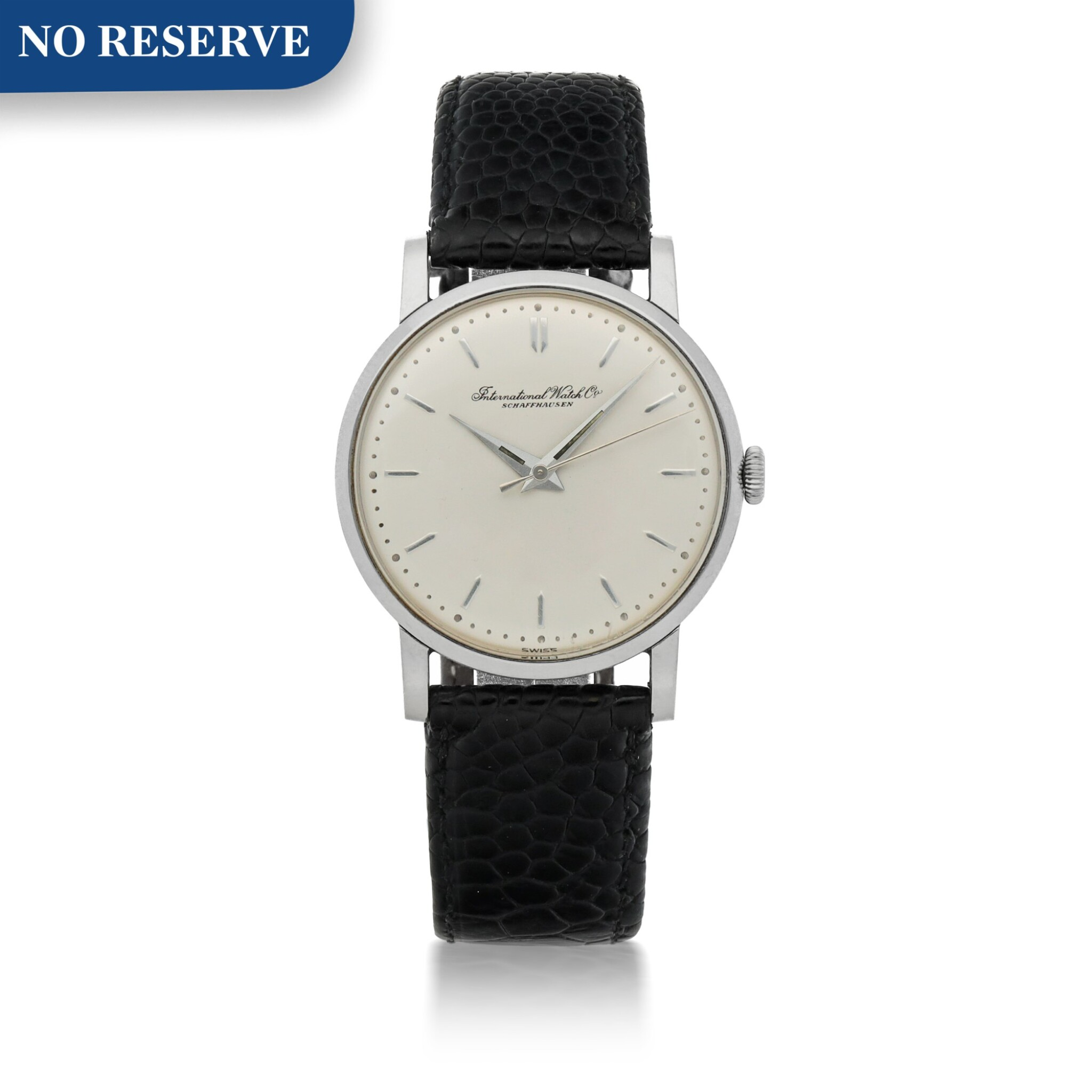 View full screen - View 1 of Lot 175. STAINLESS STEEL WRISTWATCH CIRCA 1956.
