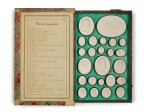 MR BEDFORD'S COLLECTION OF CASED 'GRAND TOUR' SOUVENIR PLASTER INTAGLIOS, LATE 18TH/19TH CENTURY