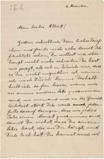 Albert Einstein   Autograph letter signed, to his son Albert, 4 November [1915]