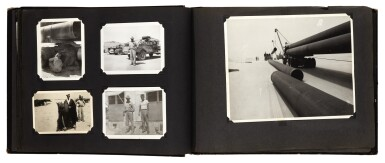 View 2. Thumbnail of Lot 210. Saudi Arabia. Album of photographs of the construction of the Trans-Arabian Pipeline, 1950s.