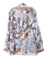 Printed silk scarf and blouse 'Jardin Secret', Hermès