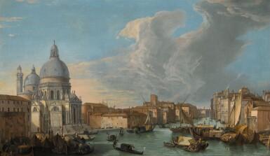 LUCA CARLEVARIJS | Venice, a view of the Grand Canal with the Church of Santa Maria della Salute | 盧卡・卡萊瓦里斯 |《威尼斯,大運河與安康聖母聖殿景觀》