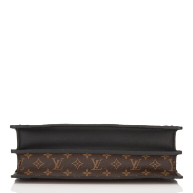View 5. Thumbnail of Lot 115. Louis Vuitton Trunk Clutch of Reverse Monogram Canvas with Polished Brass Hardware .