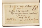 Dickens, American Notes for General Circulation, 1842, first edition, with author's autograph luggage tag