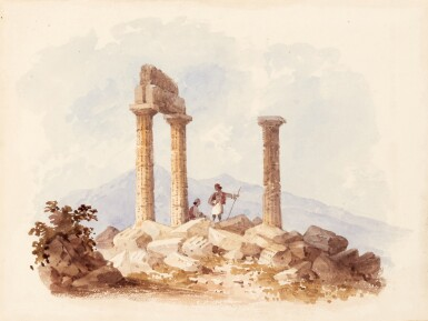 View 6. Thumbnail of Lot 119. William Page (1794-1872) | Album of 58 watercolours of Turkish, Greek, Swiss and Italian views and figure studies.