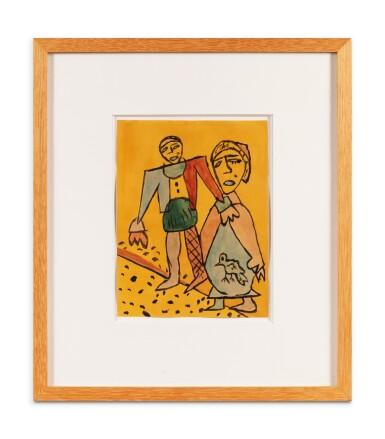 View 2. Thumbnail of Lot 194. Homme et femme à l'oiseau.