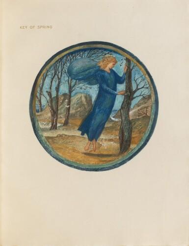 View 1. Thumbnail of Lot 142. The Flower Book. London, 1905. EO à 300 ex., 38 planches en couleurs. Petit in-folio, maroquin vert..