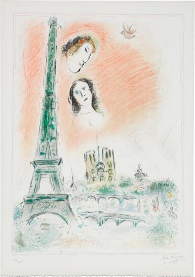 View 1. Thumbnail of Lot 62.  MARC CHAGALL   LE RÊVE DE PARIS (M. 600).