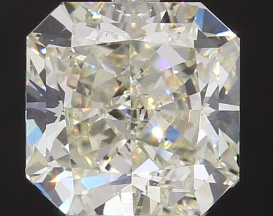 A 5.12 Carat Cut-Cornered Square Diamond, L Color, VS2 Clarity