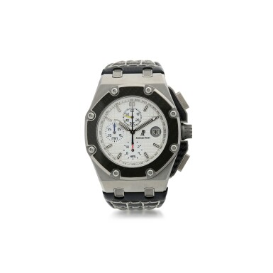 AUDEMARS PIGUET   REFERENCE 60301O.OO.D001IN.01 ROYAL OAK OFFSHORE JUAN PABLO MONTOYA  A LIMITED EDITION TITANIUM AND CARBON FIBER CHRONOGRAPH WRISTWATCH WITH DATE, CIRCA 2010