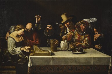 NORTHERN CARAVAGGESQUE SCHOOL, 17TH CENTURY   Allegory of the five senses