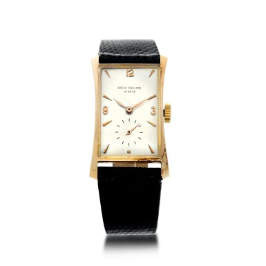 View 1. Thumbnail of Lot 147. REFERENCE 1593 A PINK GOLD WRISTWATCH, MADE IN 1953.