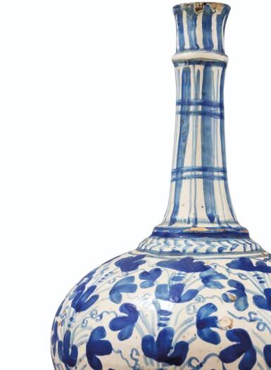 View 3. Thumbnail of Lot 124. An earthenware vase, probably Lisbon, circa 1680.