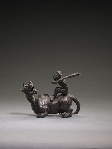 NORTHERN ITALIAN, PROBABLY PADUA, CIRCA 1500 | FANTASTICAL DRAGON SURMOUNTED BY A MONKEY