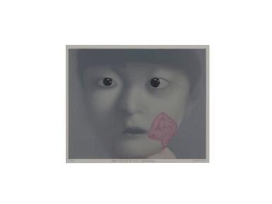 View 1. Thumbnail of Lot 9040. 張曉剛 Zhang Xiaogang    我的女兒  My Daughter.