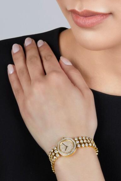 View 2. Thumbnail of Lot 152. Harry Winston | Gold and Diamond Wristwatch.