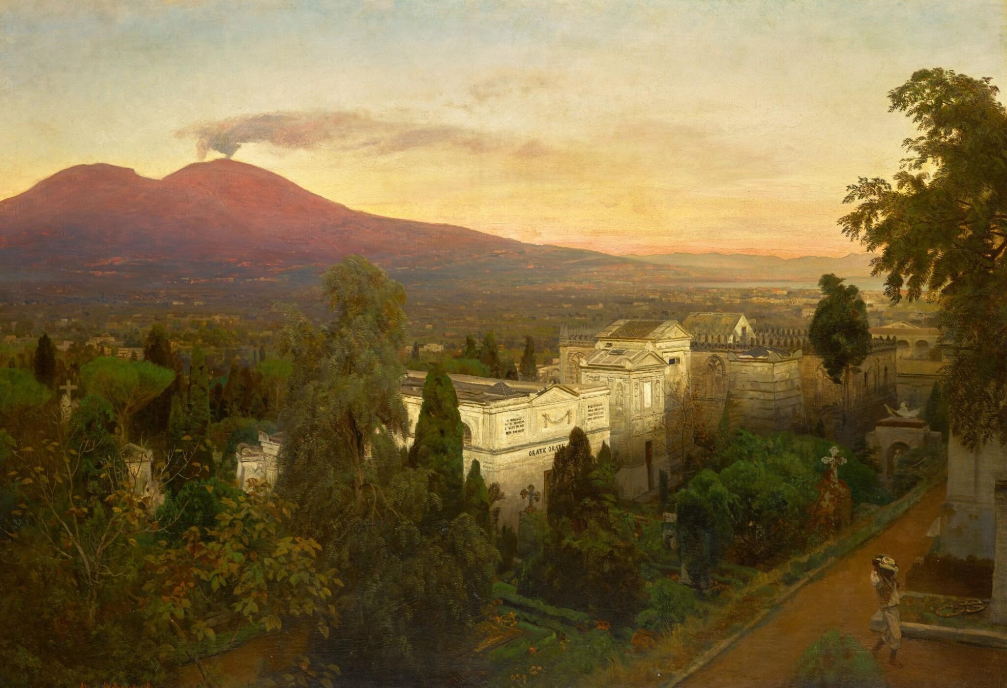 View 1 of Lot 161. Campo Santo in Poggioreale, the Vesuvius Beyond.