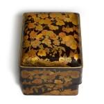 A FINE LACQUER KUSHI-BAKO [COMB BOX], MOMOYAMA PERIOD, LATE 16TH CENTURY