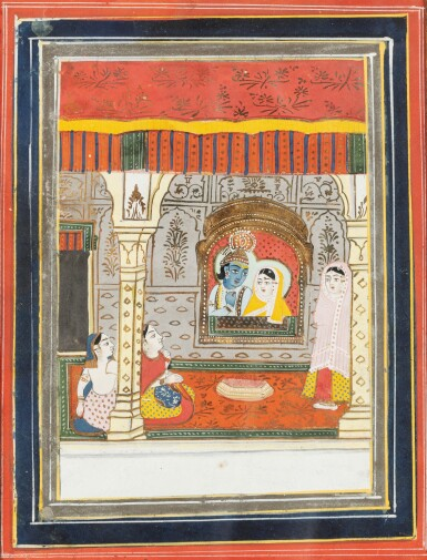 View 11. Thumbnail of Lot 37. RAJASTHAN, LATE 18TH CENTURY AND 19TH CENTURY | SIX INDIAN MINIATURES.