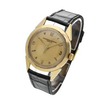 View 2. Thumbnail of Lot 117. A yellow gold wristwatch, Circa 1960 .
