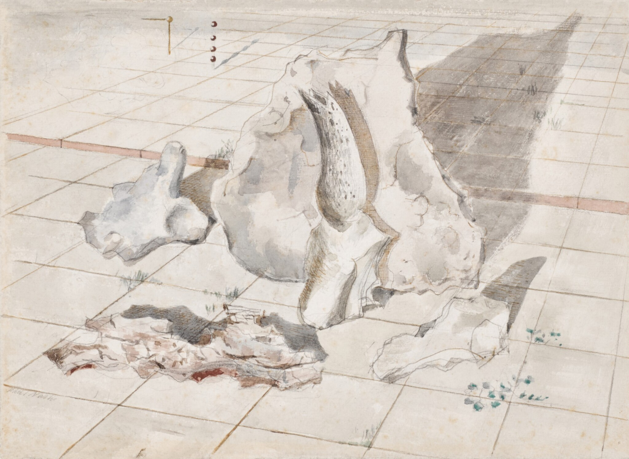 View full screen - View 1 of Lot 2. PAUL NASH | STUDY FOR LANDSCAPE OF BLEACHED OBJECTS.