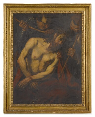View 2. Thumbnail of Lot 555. CIRCLE OF VALENTIN DE BOULOGNE | THE CROWNING OF THORNS.