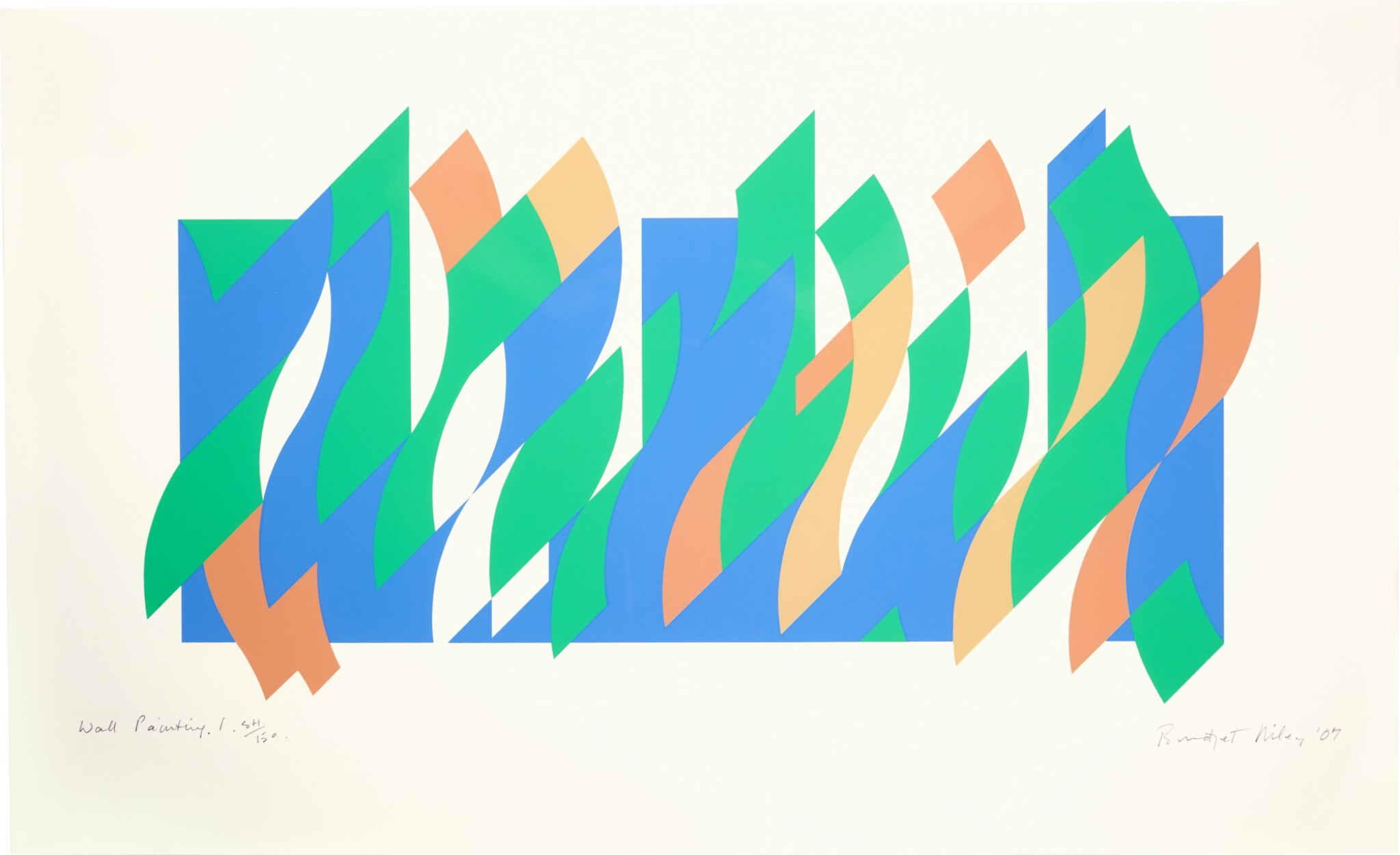 View 1 of Lot 9. BRIDGET RILEY | WALL PAINTING 1 (S. 66).