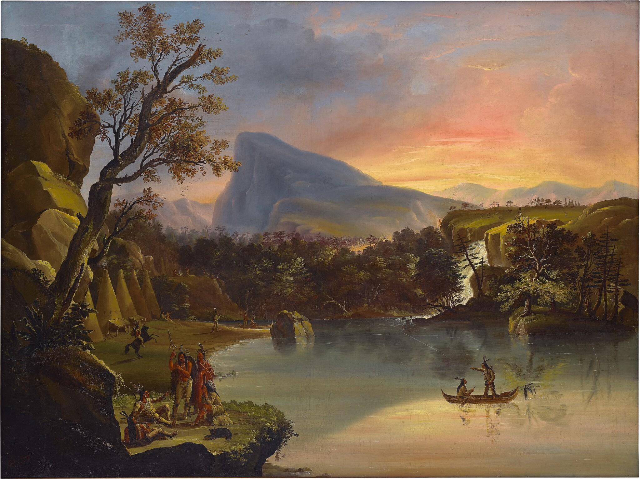 View 1 of Lot 27. American Landscape with Indians.