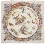 Printed silk scarf 'Cirque Molier', Hermès