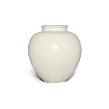 View 4. Thumbnail of Lot 98. A white-glazed pottery ovoid jar, Tang dynasty | 唐 白釉罐.