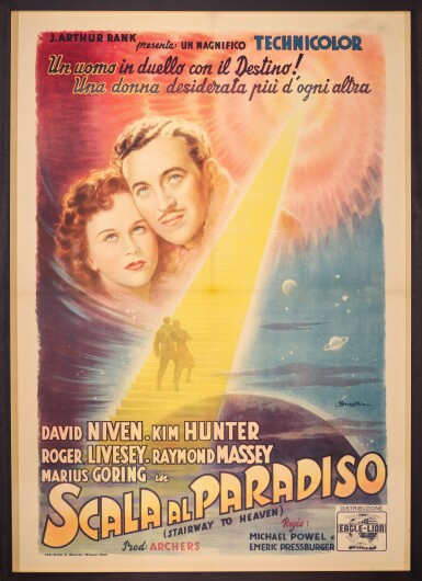 A MATTER OF LIFE AND DEATH / SCALA AL PARADISO (1946) POSTER, ITALIAN
