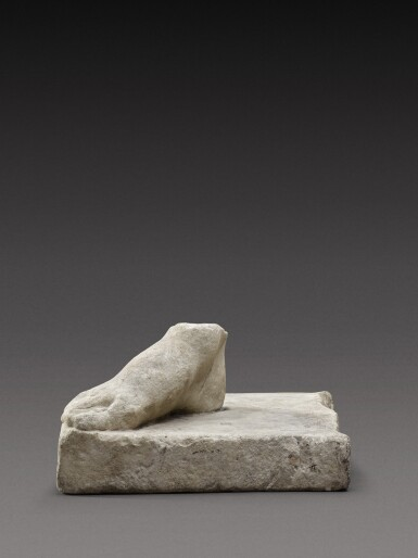 View 1. Thumbnail of Lot 106. A Roman Marble Right Foot, circa 2nd Century A.D..