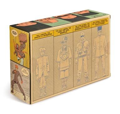 View 8. Thumbnail of Lot 41. ED PISKOR | Original artwork & designs for Public Enemy action figures, w/ original set of action figures.