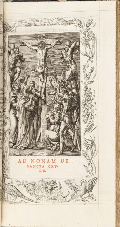 View 6. Thumbnail of Lot 40.  Horae beatissimae... Anvers, 1570.Reliure brodée de la Renaissance aux armes du duc d'Anjou..