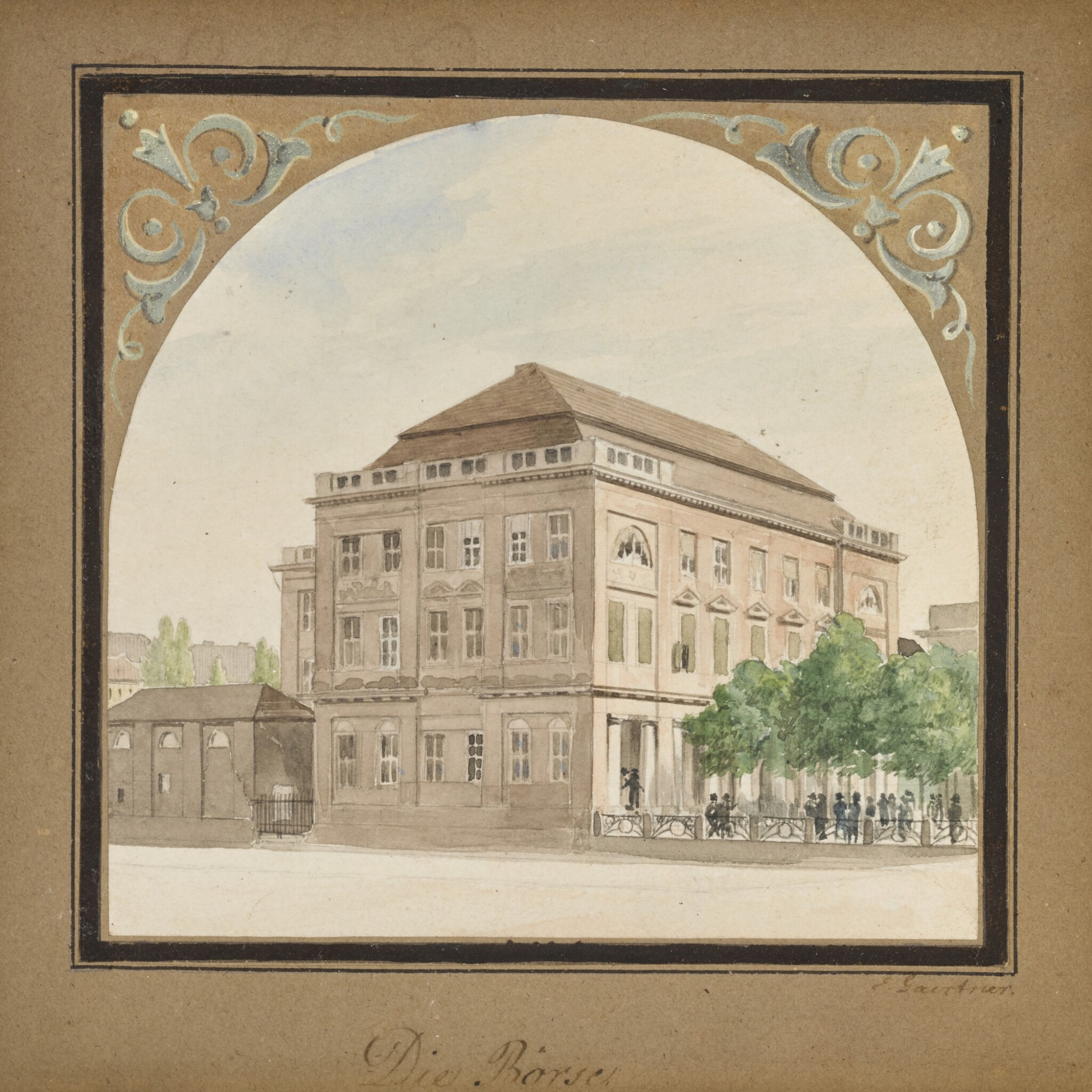 View 1 of Lot 60. Die Börse (The Stock Exchange).