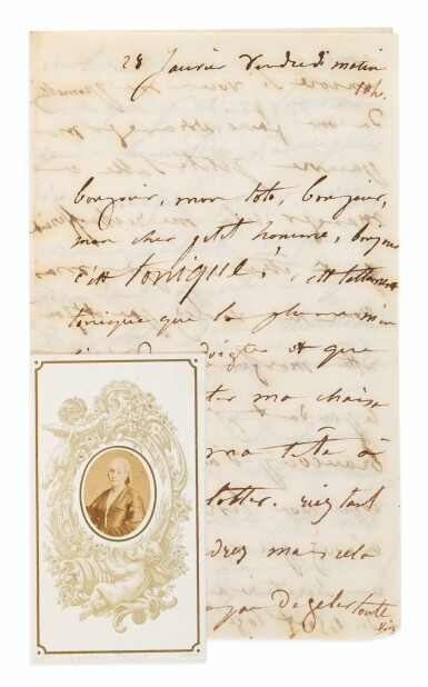 View 2. Thumbnail of Lot 113. Bel ensemble de 14 lettres autographes à Victor Hugo. 1848-1871..