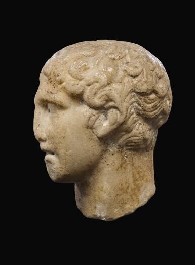 View 3. Thumbnail of Lot 28. A ROMAN MARBLE HEAD OF A MAN, CIRCA 1ST CENTURY A.D..