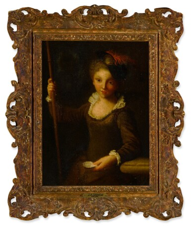 View 3. Thumbnail of Lot 86. A young pilgrim girl.