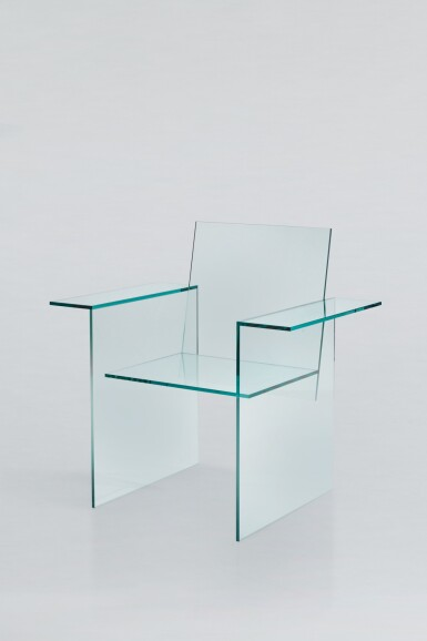 View 2. Thumbnail of Lot 164. Glass Chair.