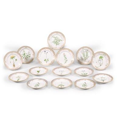 View 1. Thumbnail of Lot 96. Fifteen Royal Copenhagen Flora Danica side plates, 20th century.