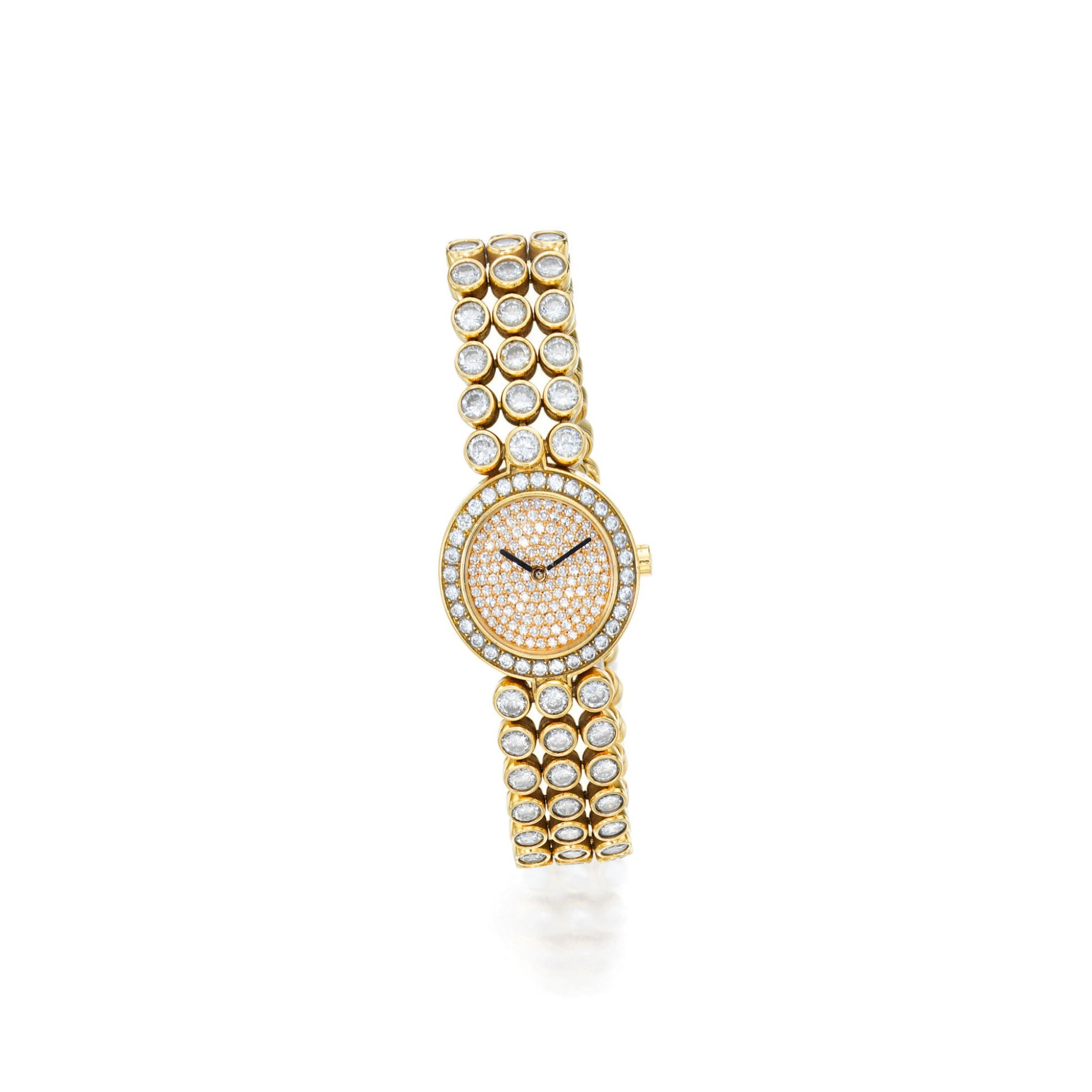 View full screen - View 1 of Lot 152. Harry Winston | Gold and Diamond Wristwatch.