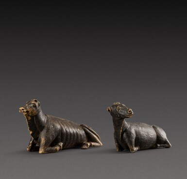 View 2. Thumbnail of Lot 157. Indo-European, possibly 17th century | Pair of Animals.