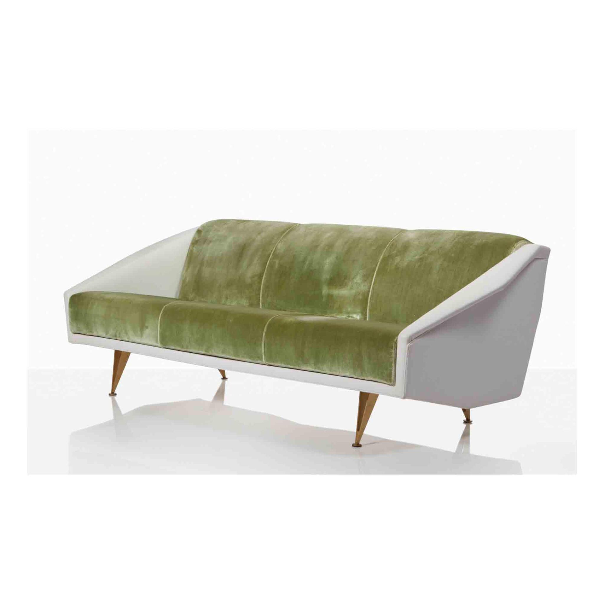 """View full screen - View 1 of Lot 98. """"Diamond"""" Sofa from the Villa Goldschmidt, Buenos Aires, Argentina."""