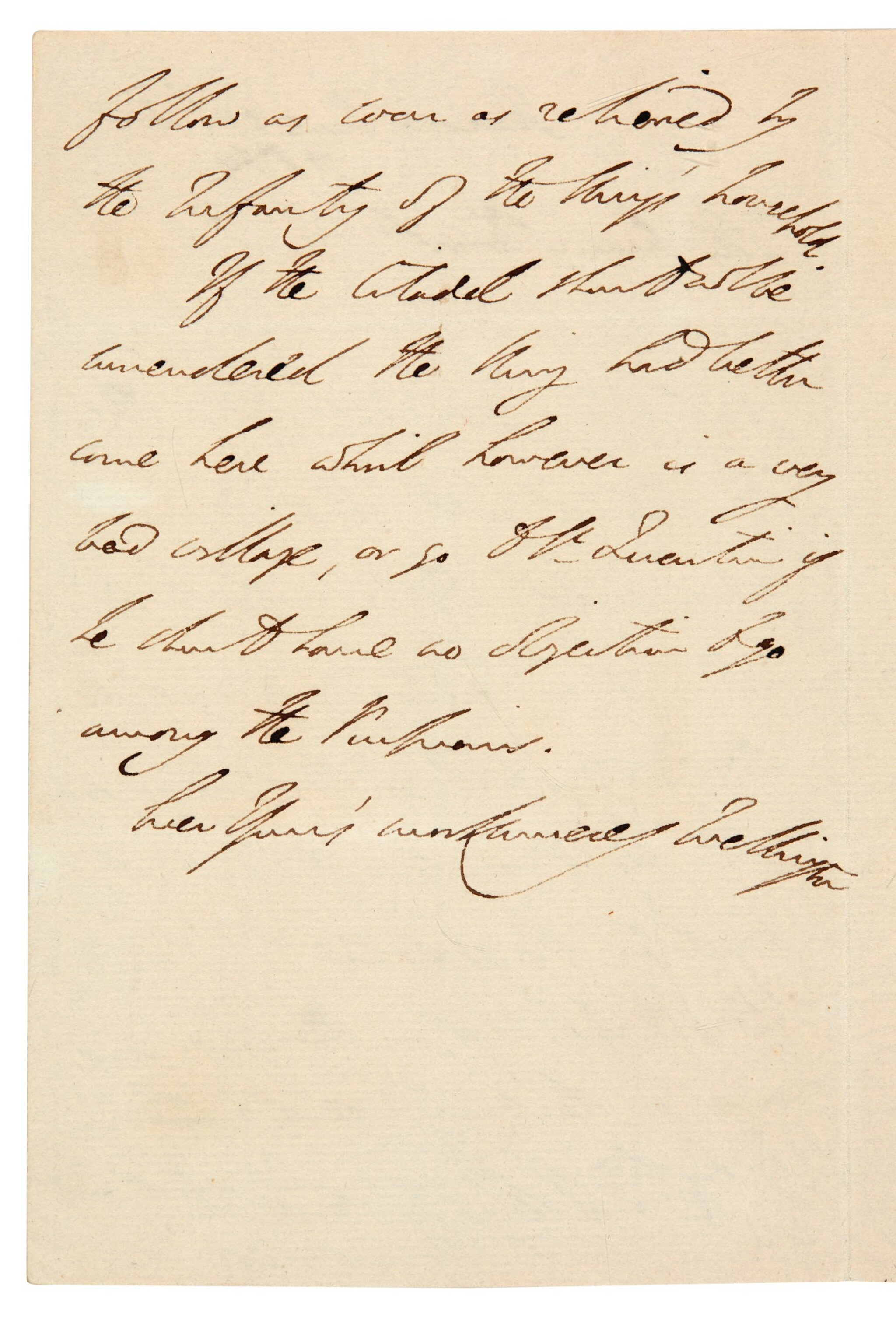 View full screen - View 1 of Lot 128. DUKE OF WELLINGTON | autograph letter signed, to Sir Charles Stuart, seven days after Waterloo, 1815.