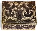 A GOLD AND TORTOISESHELL PIQUÉ SNUFF BOX, NAPLES, CIRCA 1750