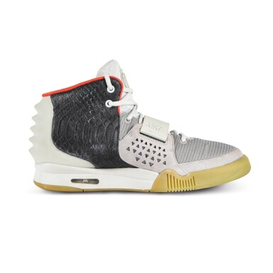 View 4. Thumbnail of Lot 38. Nike Air Yeezy 2 'Mismatch' Sample Signed by Kanye West | Size 12.