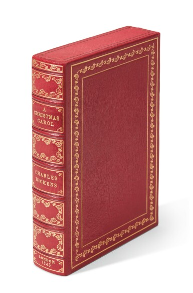 Dickens, A Christmas Carol, 1843, first edition, red and green title-page, cream endpapers, Stave One